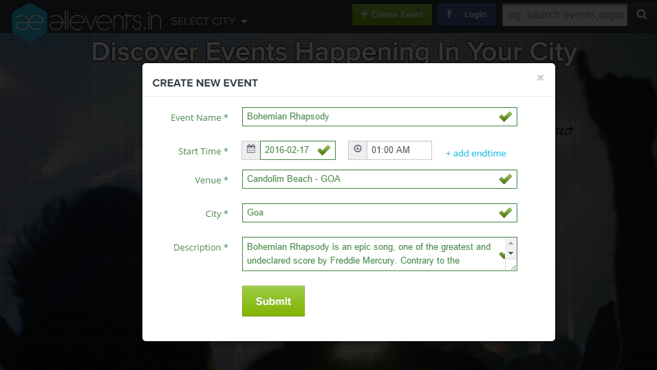 How to create and publish an event on All Events Image 2