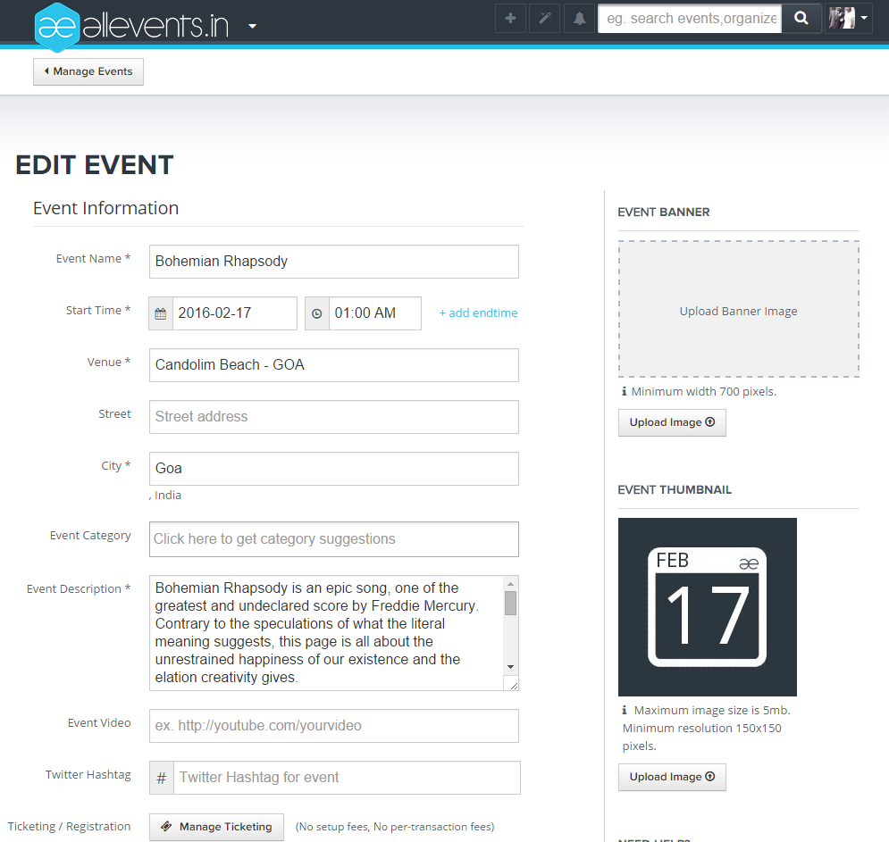 How to create and publish an event on All Events Image3
