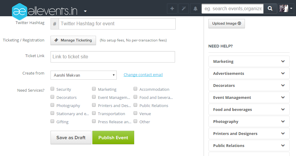 How to create and publish an event on All Events Image4