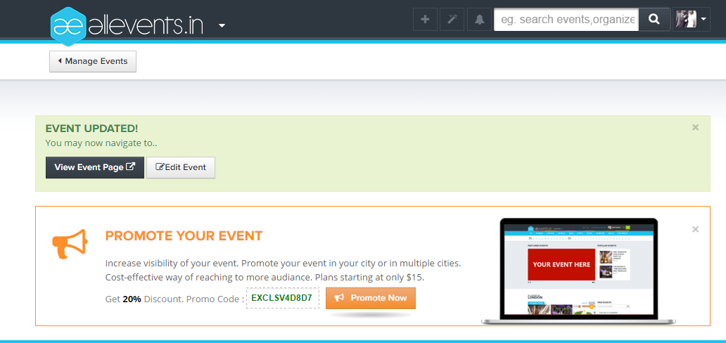 How to create and publish an event on All Events Image5