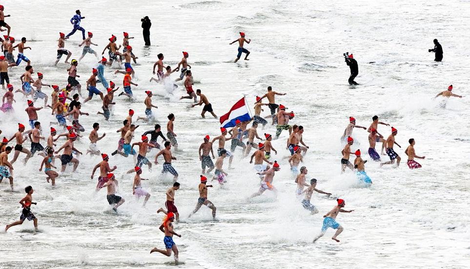'Nieuwjaarsduik' Netherland