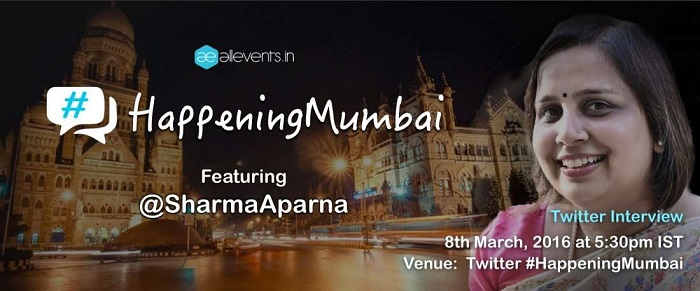 #HappeningMumbai with @sharmaaparna