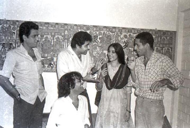 Om Puri, Satish Shah, Neena Gupta, Naseeruddin Shah and Ravi Baswam