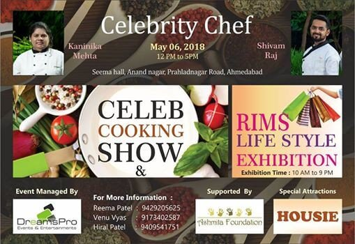 Celebrity Chef Kanini Mehat and Shivam Raj in Ahmedabad with Exhibition at Seema Hall