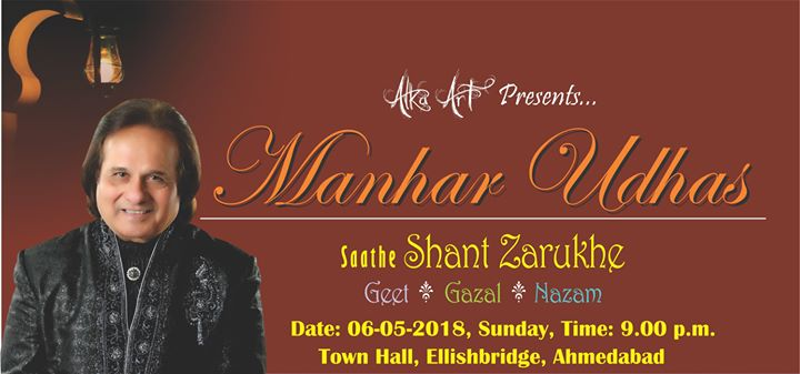 Manhar Udhas Live Concert in Ahmedabad - Get Tickets