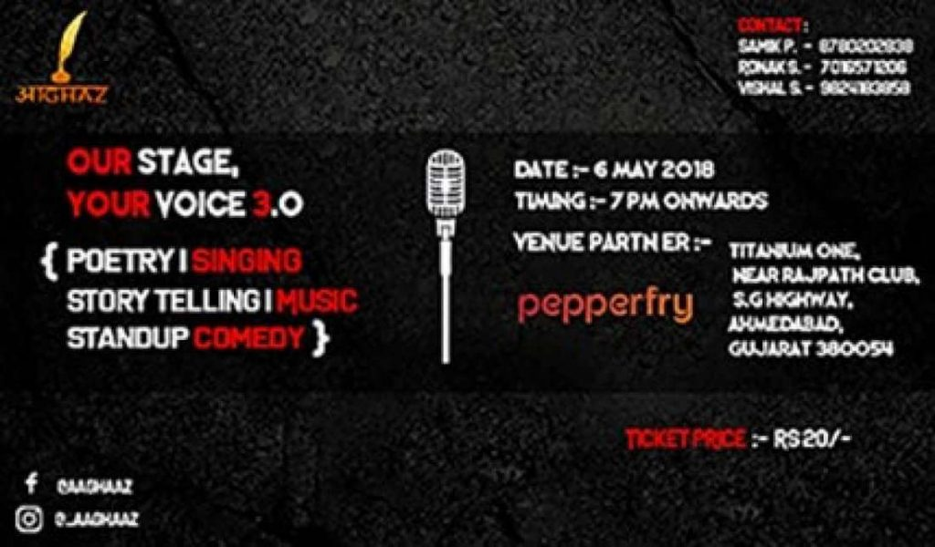 Open Mic Events in Ahmedabad by Aaghaz Event Organizer