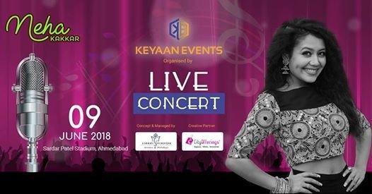 Neha Kakkar in Ahmedabad Live in Concert June 2018