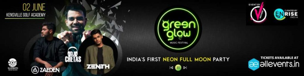 Dj Chetas, Zaeden, Green Glow Festival Ahmedabad at Kensville Golf Academy 2018