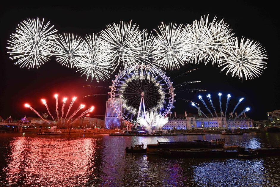 fireworks at London Eye
