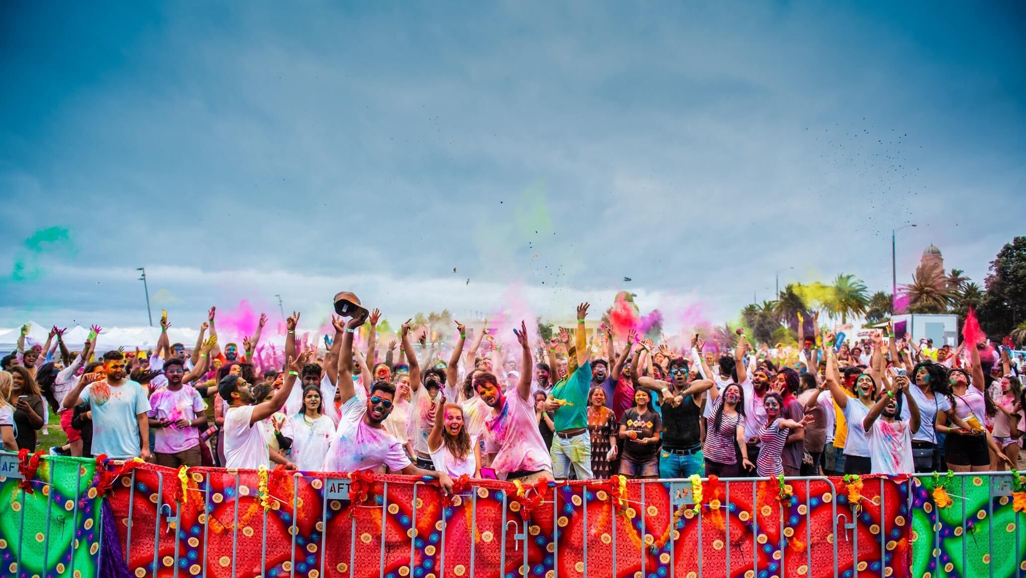 Holi festival in Melbourne