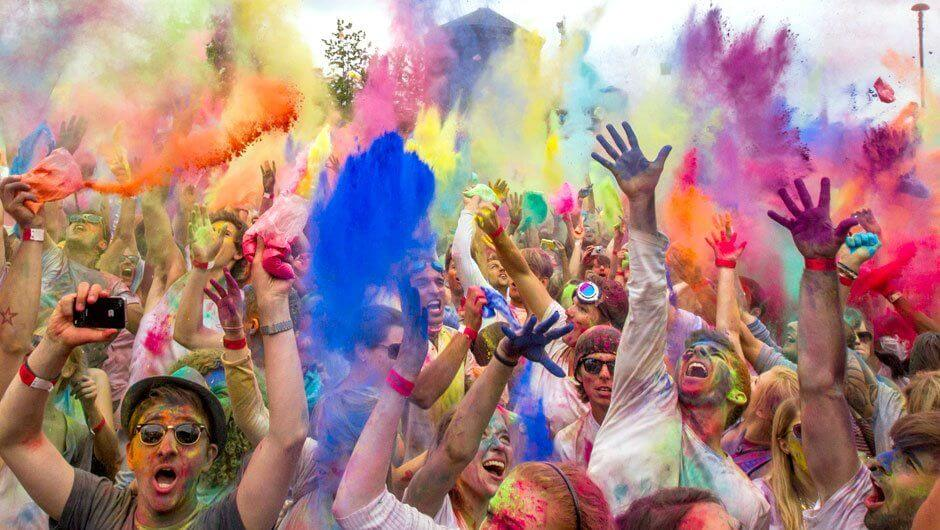 Holi festival of colors in Cape Town
