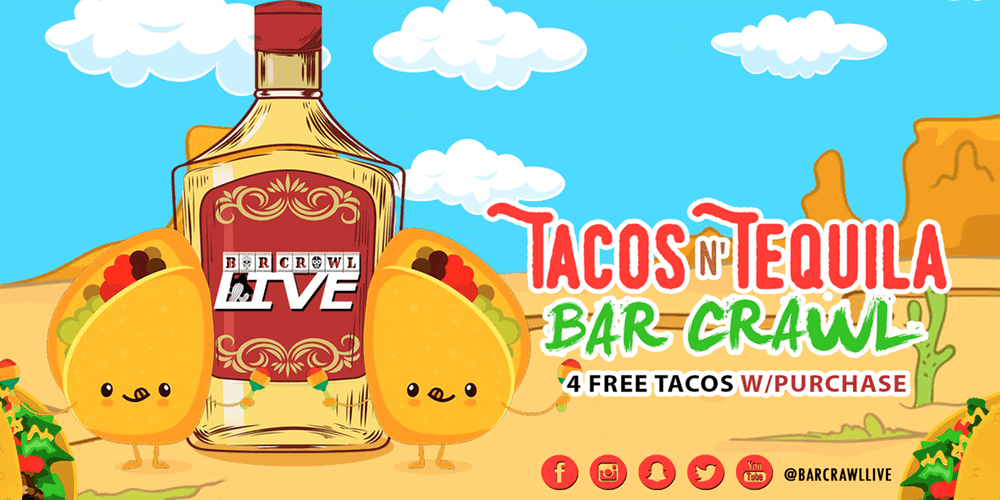 tequila and tacos | bar crawl in Chicago