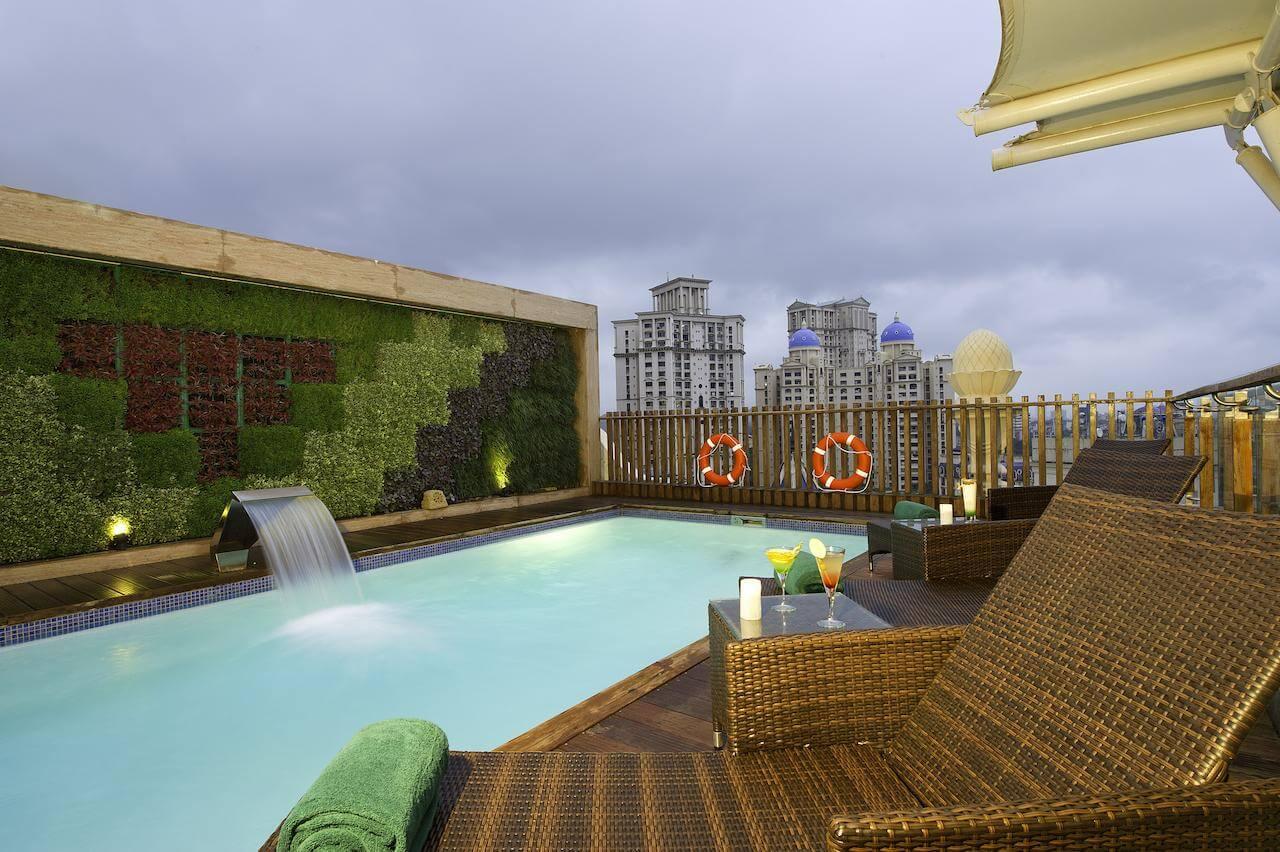 pool at meluha the fern