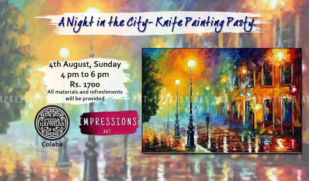 knife painting party in mumbai