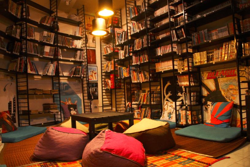 leaping windows | book cafe in mumbai