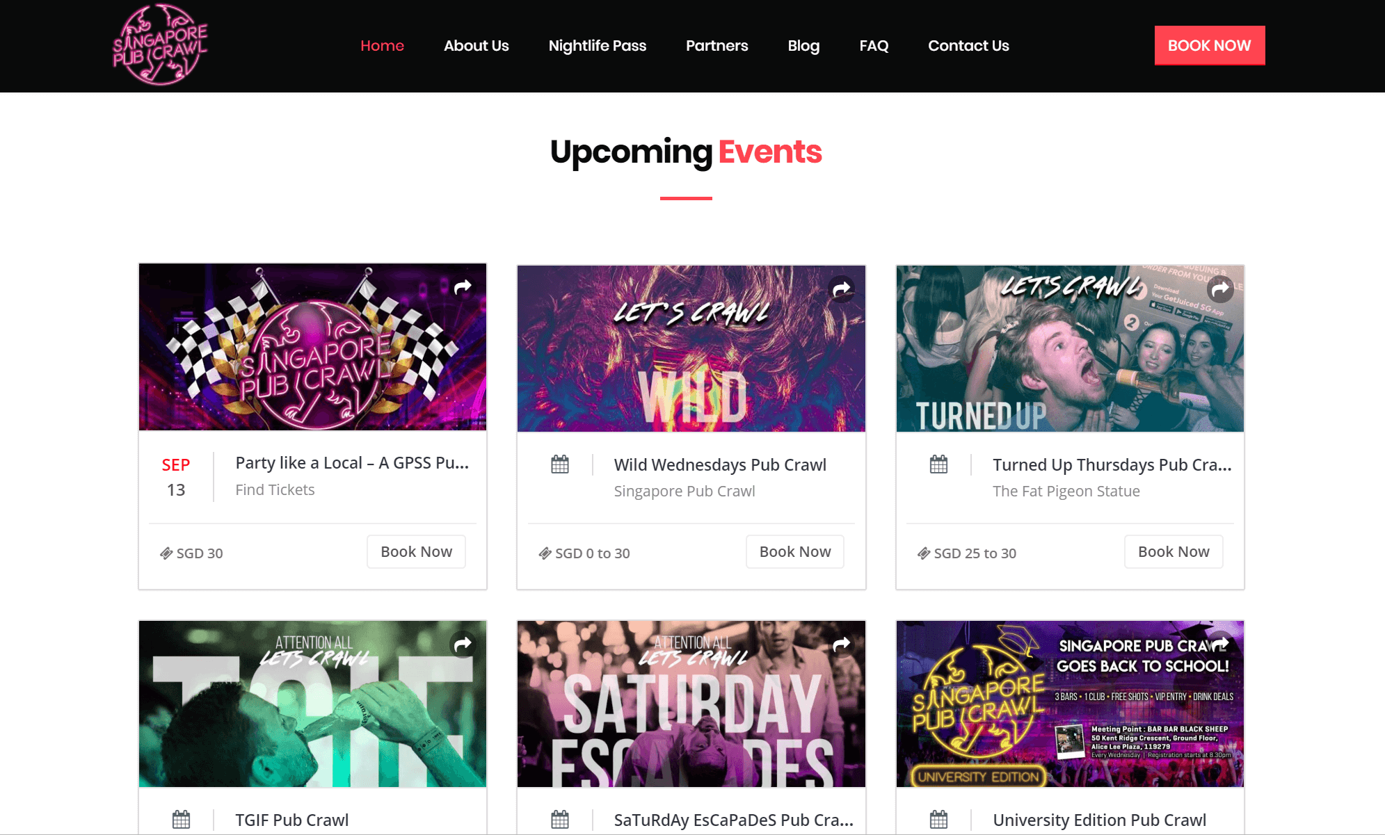 developing a website to promote events