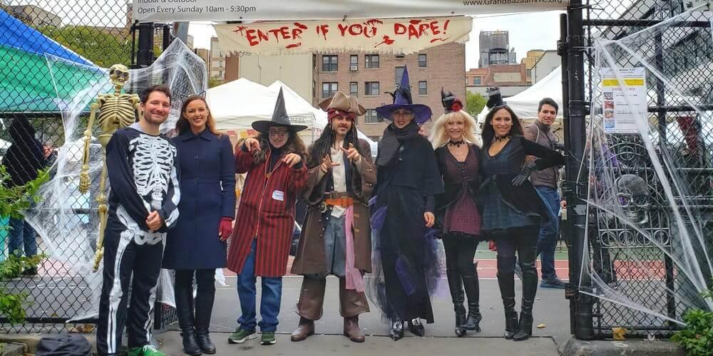 scary bazaar | halloween in nyc
